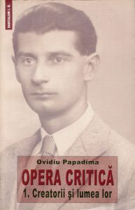 opera critica – O. Papadima